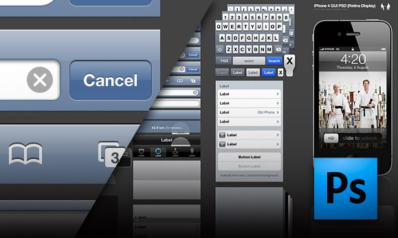 iphone ipad gui template